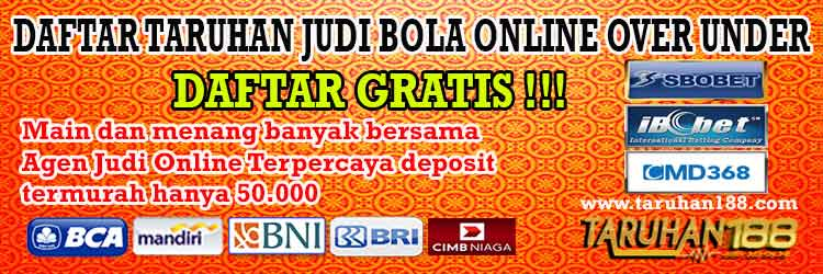 Daftar Taruhan Judi Bola Online Over Under
